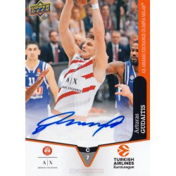 Goodwin Champions 2019 Turkish Airlines EuroLeague Autographs Arturas Gudaitis (AX Armani Exchange Olimpia Milan)